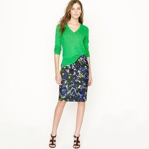 J Crew No. 2 Pencil Skirt in Gardenshade Floral